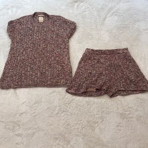 Zara collection top and shorts